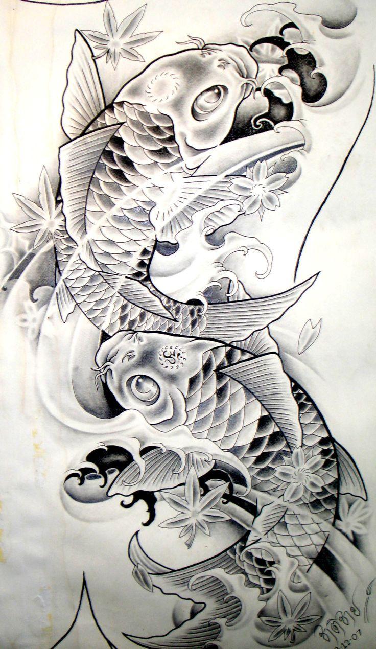 25 melhores ideias de tatuagens japonesas no pinterest for Como criar peces koi