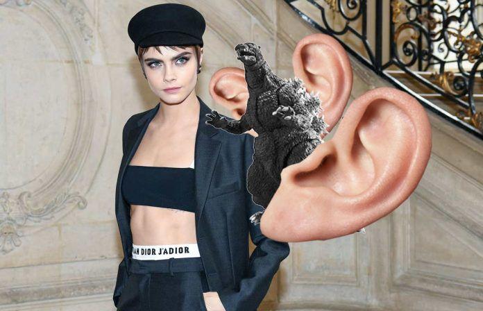 El total look Dior de Cara nos encanta pero su oreja con escamas nos provoca tripofobia
