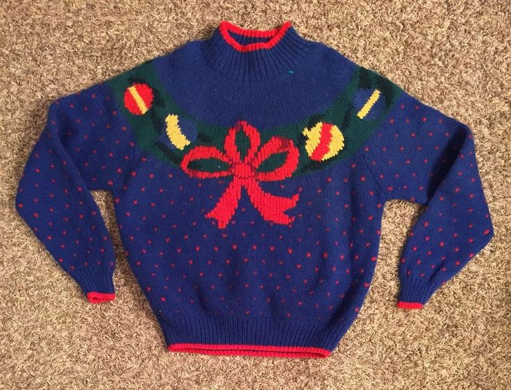 VINTAGE Ugly Christmas Sweater Wool Brooks Brothers Men's Size Large Used. See photos for details. Please ask any questions before bidding.   eBay!