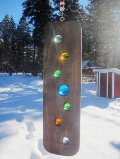 Suncatcher Spinner Wood Art Rustic Modern by BearlyInMontana