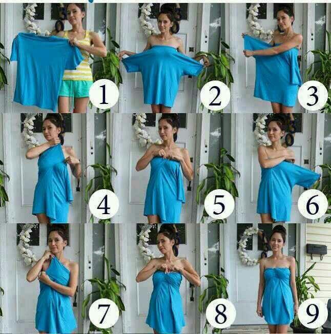 DIY big shirt into a cute dress!