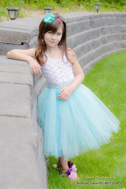 aqua flower girl tutu dress crochet tutu dress by victoriastutus