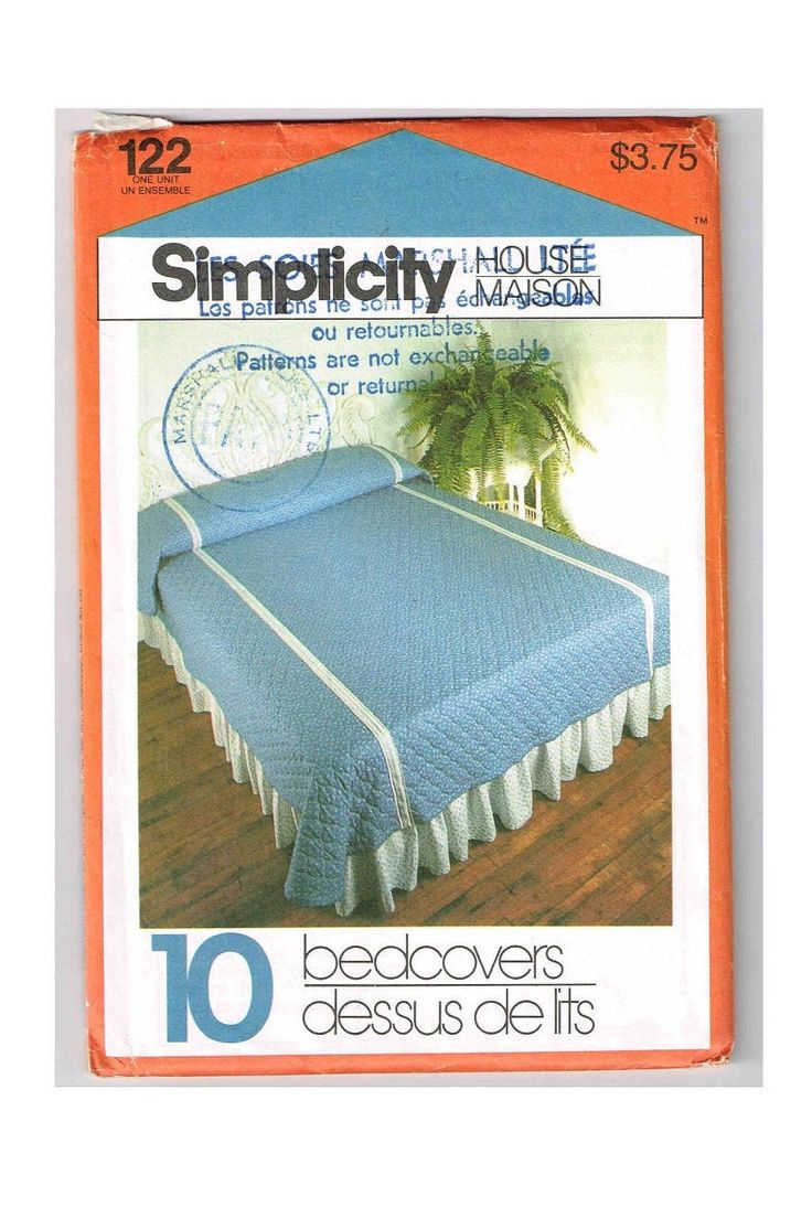Vintage Simplicity House Bedcover Pattern #122, Instruction Cards, Fully Illustrated Step By Step Instuctions To Create 10 Bedcovers by TheShoppingMoll on Etsy