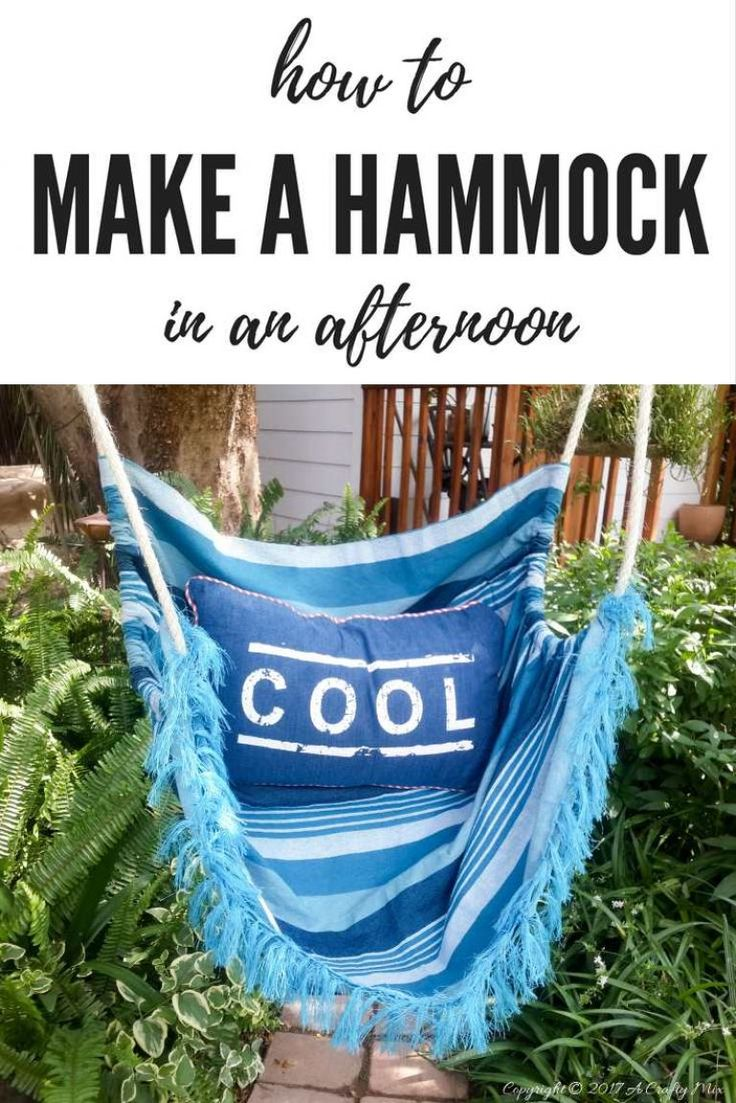 How to make a hammock in an afternoon. Easy DIY