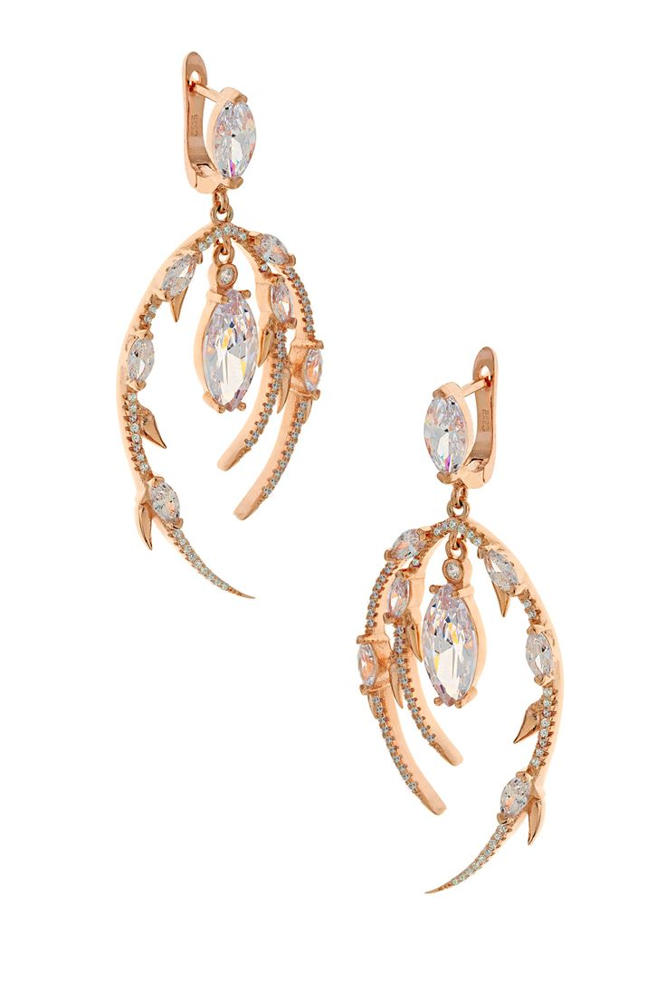 Σκουλαρίκι Sparkling Lady (€145) #earrings #sparkle #silver #white #stones