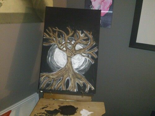 Second stage to my painting tree and thee moon energy flow.