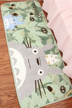 Totoro TOTORO bedroom bedside kitchen sliding door mat carpet floor mats carpet - Taobao