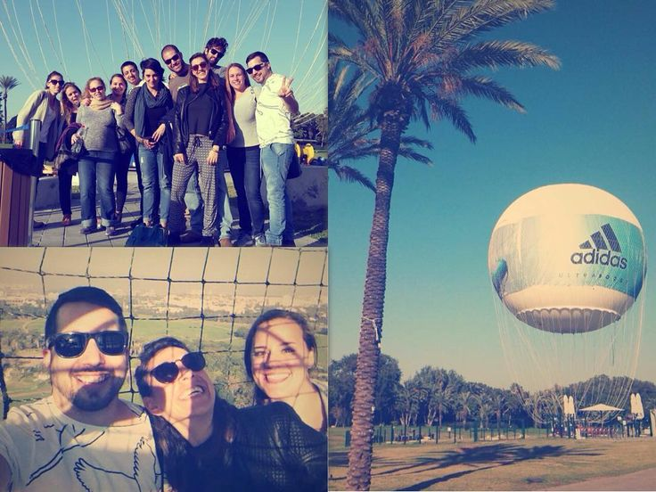 Our staff meetings occasionally take place in a hot air balloon over Tel Aviv!