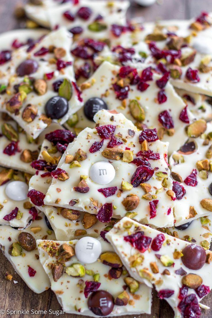 Cranberry White Chocolate Pistachio Bark | Recipe | Pistachios, White ...