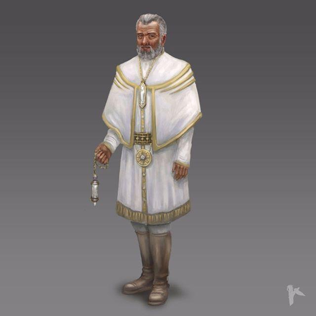 Human priest concept art for the aborted and unpublished Nemundir rpg startup from 2014-2015. #concept #conceptart #artofkaa #nemundir #illustration #priest  #character #characterdesign #characterconcept #crystalpunk #rpg #startup #unpublishedartofkaa