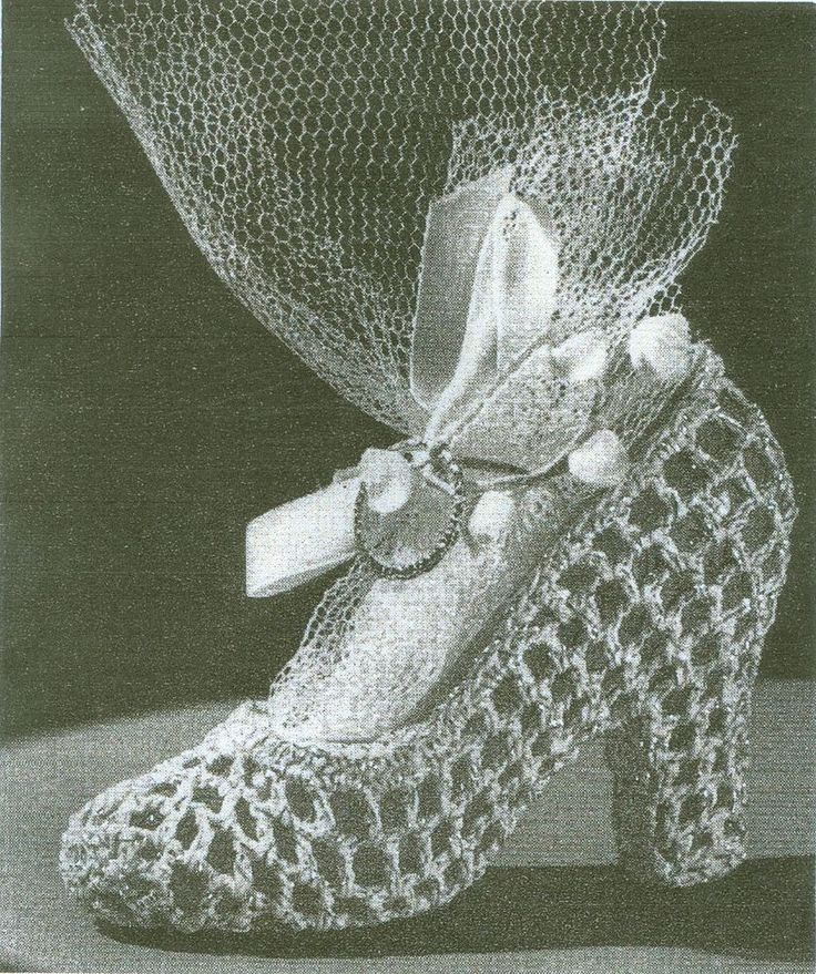 Crochet Wedding Gift Patterns: Shoe Crochet Pattern Great For Wedding Shower Favor
