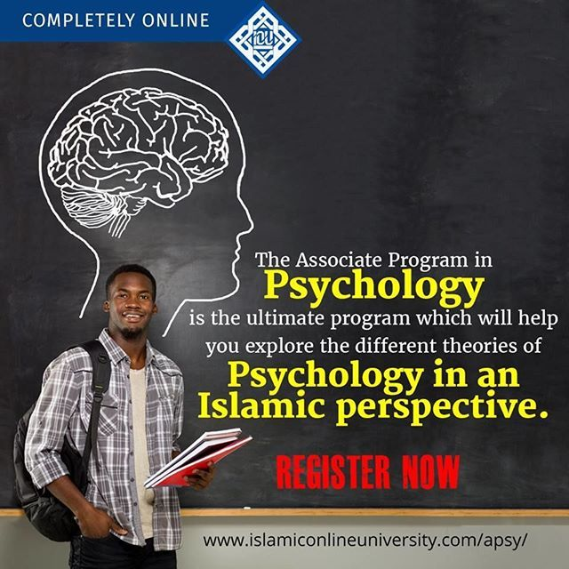 Islamic Online University, founded by Dr. Bilal Philips offers Associate Degree in Psychology.  The course combines Islamic wisdom with contemporary knowledge. It focuses on the Islamic perspective to understanding humans, their psyche and their nature. I