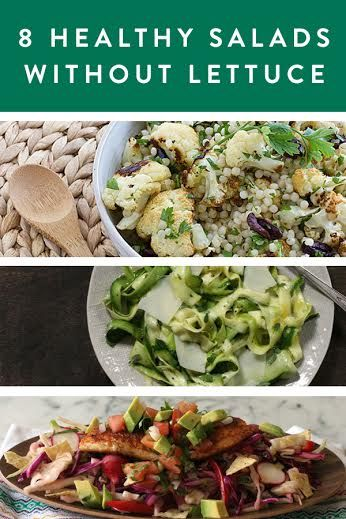 8 Dinner-Worthy Salads Without Lettuce. We love salads, here are 8 ways to keep them interesting. Easy lunches and dinners ahead, try one tonight.