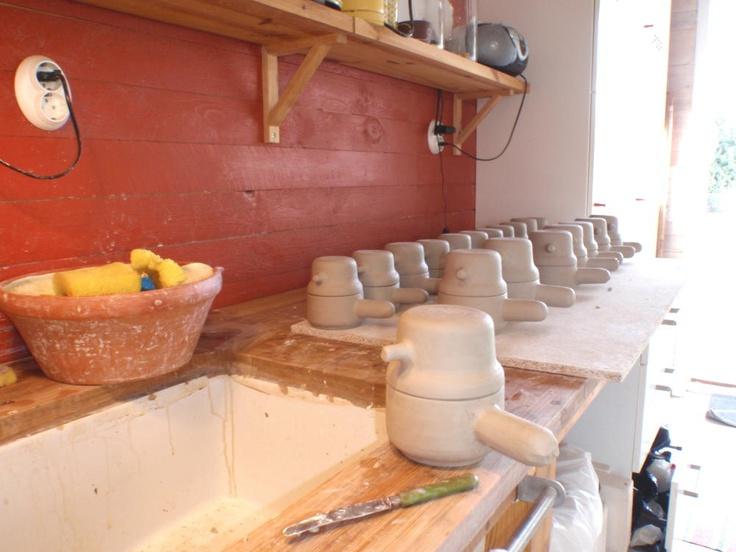 Birdpots being made!