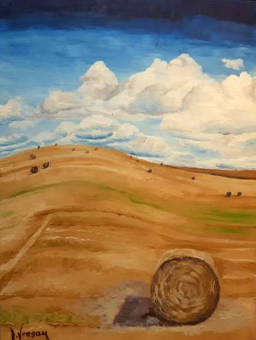 """$96  Ive Vresan - """"Afternoon"""" - 12''x16'' Landscape. Oil painting on canvas."""