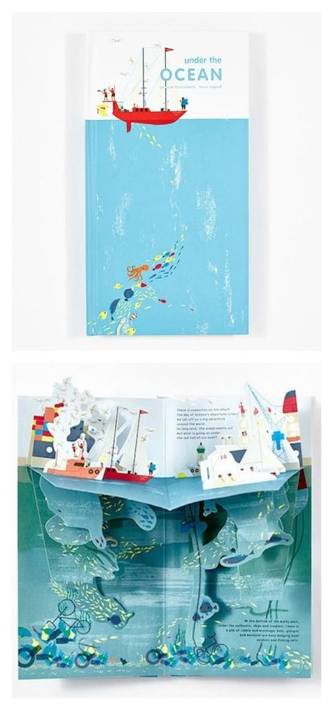beautiful pop-up books for kids | Under the Ocean by Anouck Boisrobert