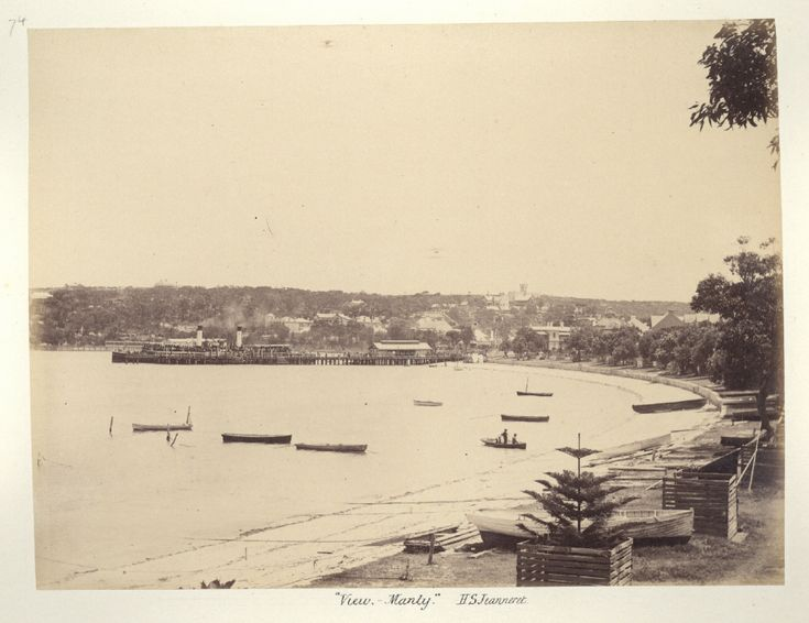 Manly in the Northern Beaches region of Sydney in 1886.