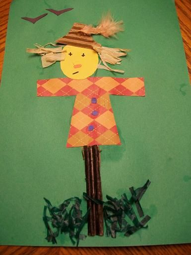 Cute Kid's Scarecrow - Autumn Craft for littles