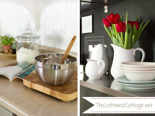 stainless floating shelves kitchen the lettered cottage