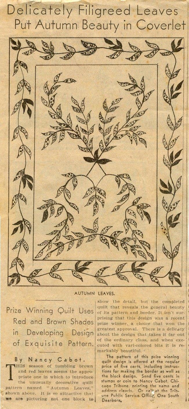 Old Nancy Cabot pattern