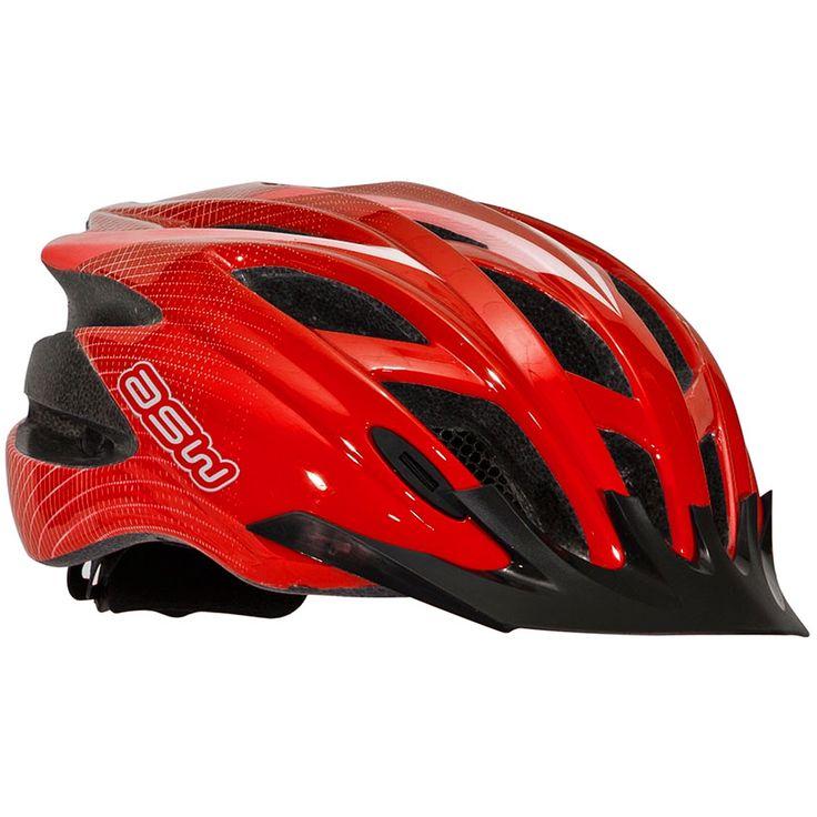 Capacete Ciclismo (Bike) ASW Active MTB / Speed - Vermelho - Masada Moto