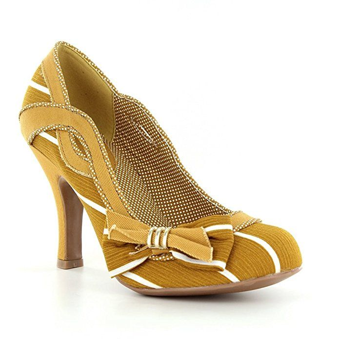 Ruby Shoo Damens's Ochre Miranda Striped Court Schuhe Pumps UK 42 9 EU 42 UK a3ac96
