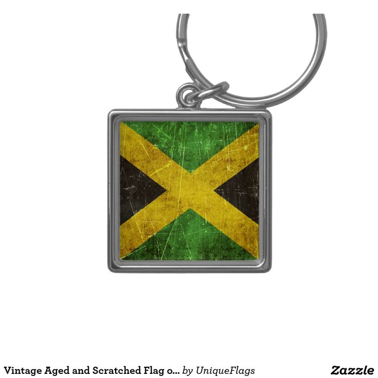 Vintage Aged and Scratched Flag of Jamaica