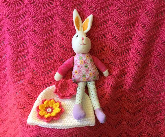 Pink baby blanket baby shower gift set crochet baby blanket