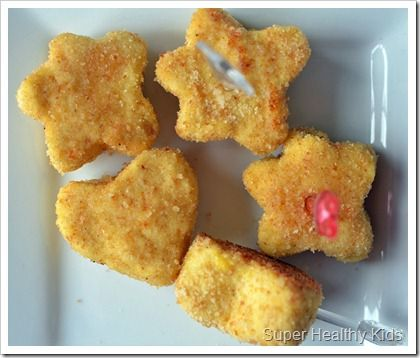 Toddler-approved Homemade Chicken Nuggets - the great thing about this recipe? Using up leftover chix or easily boiled/shredded chix. Would'nt these be great to make ahead in freeze? I'm gushing with possibilities!