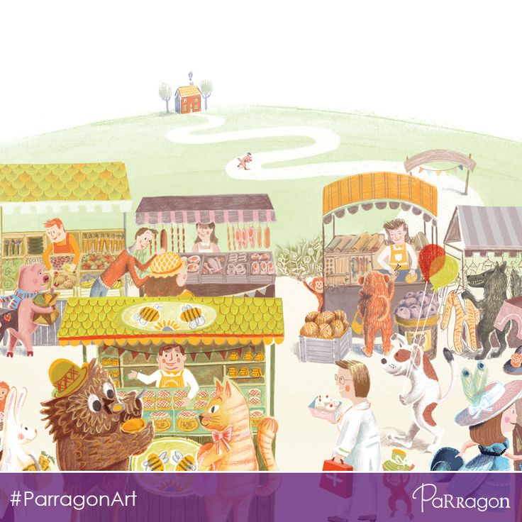 How many nursery rhyme characters can you see in this #illustration by #LisaSheehan from #picturebook 'The Find It Book'? #ParragonArt #KidLitArt