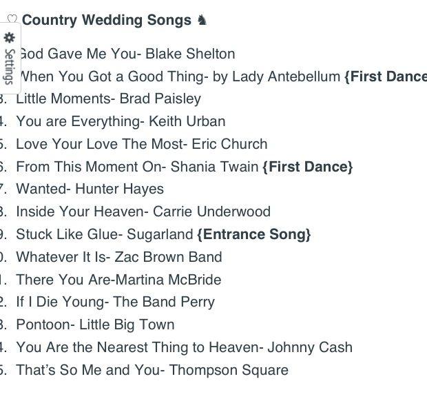 Best Wedding Song List