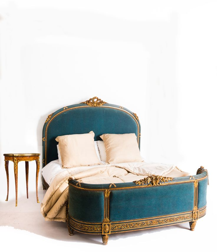 Exceptional 19th century French Louis XVI Queen Size Bed. Switch the fabric and transform the bed!