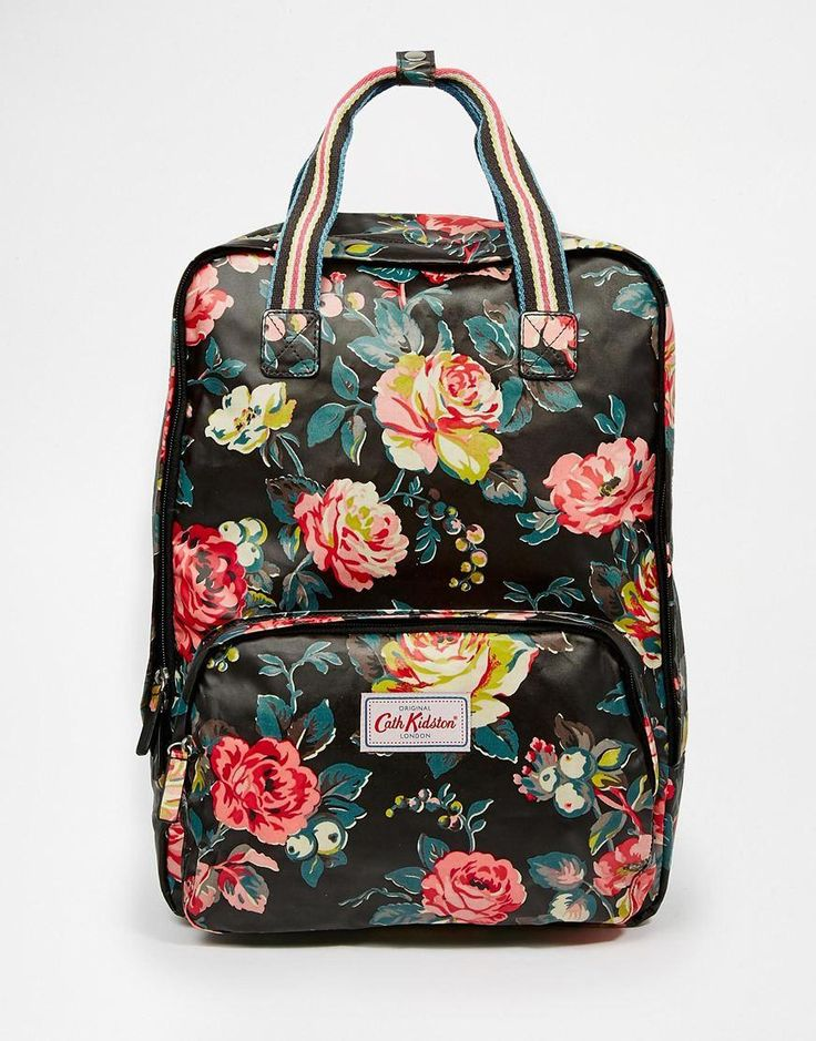 cath kidston cath kidston matt coated backpack at asos. Black Bedroom Furniture Sets. Home Design Ideas