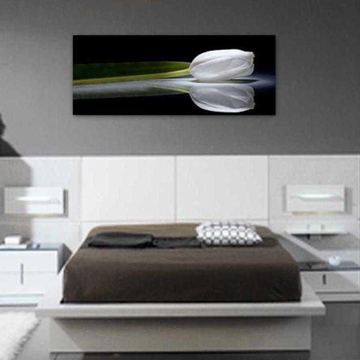 cuadros para dormitorios modernos foto de un tulipn formato alargado impresa en lienzo