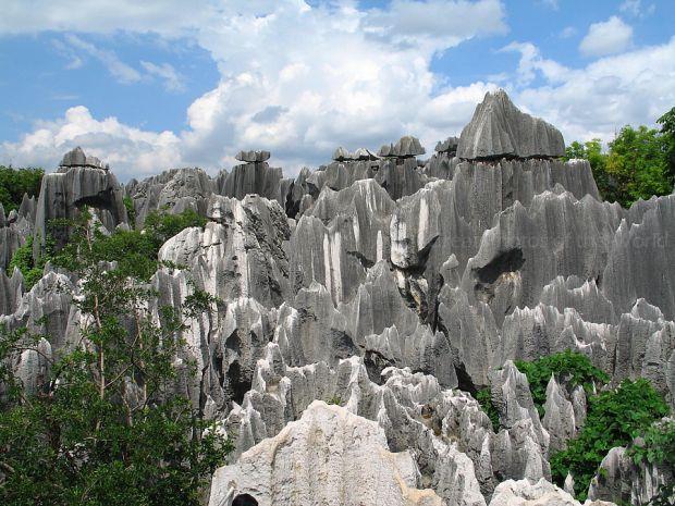 Shilin Stone Forest Yunnan, China.