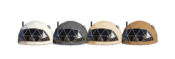 High quality geodesic dome glamping kit that comes in concise package with all the elements you will need to built a structure with base area of 75 sq. m.