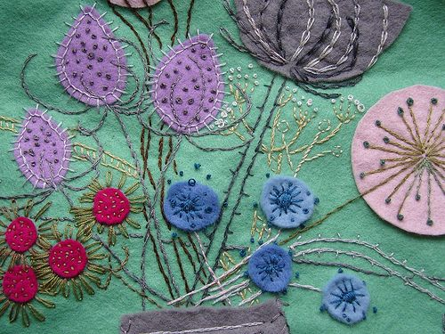 Flowers by Laughing Flowers: Photos, Flower Embroidery, Craft, Idea, Felt, Needlework, Embroidery Flowers, Laughing Flowers
