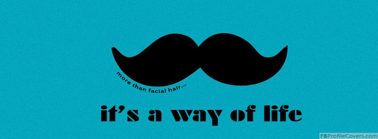 mustache sayings funny | Mustache Facebook Timeline Profile Cover Image FB Cover