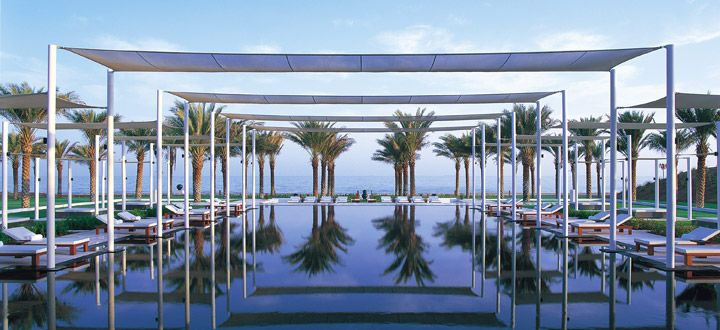 The Chedi is set along a beautiful beach overlooking the unbroken blue waters of the Gulf of Oman http://www.abercrombiekent.co.uk/oman/muscat/the-chedi.cfm