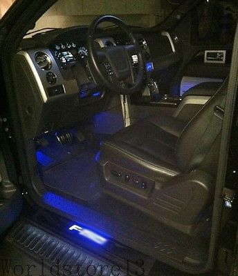 Black Stainless Illuminated Door Sill Led Scuff Plate For Ford F 150