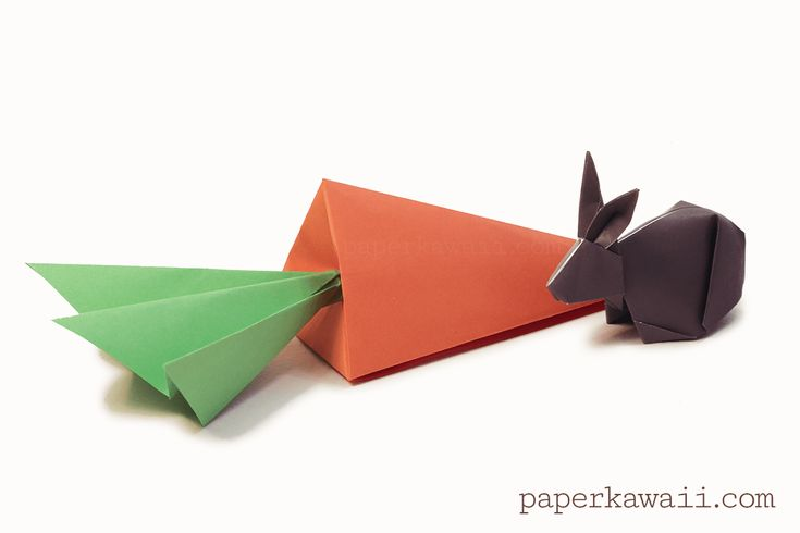 Origami Carrot Box Video Tutorial, Learn how to make a cute origami carrot gift box! This tall tetrahedron or pyramid model is folded from 1 sheet of paper, and closes at the top. Perfect easter gift!  #carrot