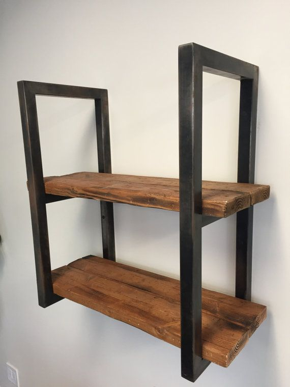 Loft+style+wood+and+metal+shelving+48+by+McReynoldsArtandSoul