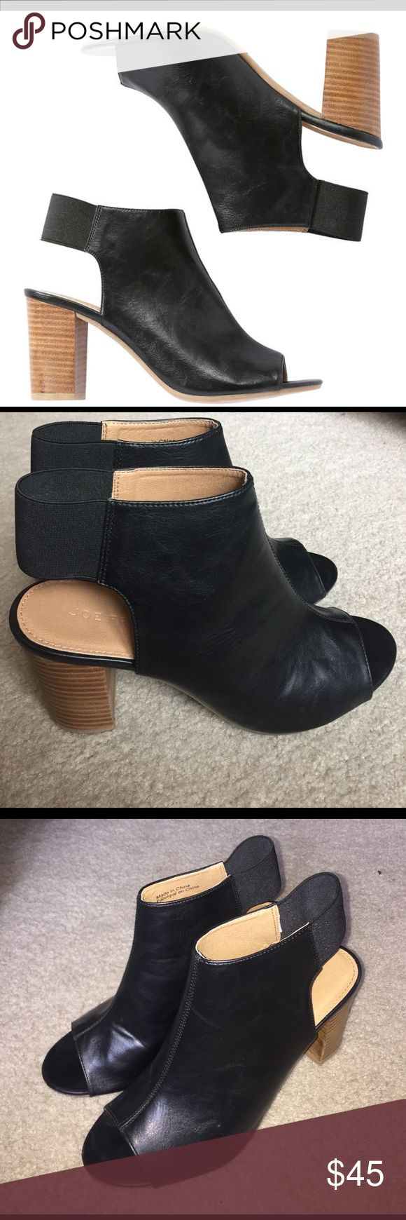 Joe fresh open toed black booties Joe fresh open toed black booties, barely worn Joe Fresh Shoes Ankle Boots & Booties