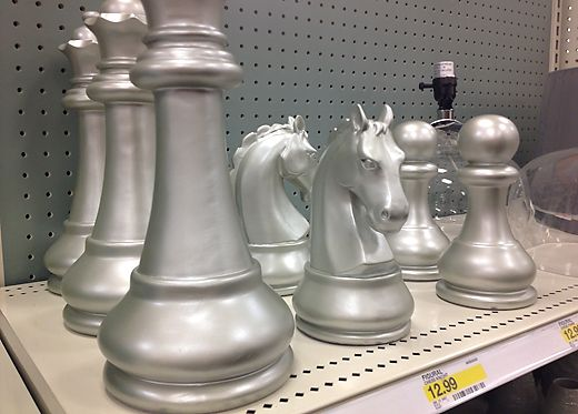 Decorative Chess Pieces From Target. I Donu0027t Know How To Play Chess Nor Do  I Care To Learn, But These Pieces Are Way Cool!