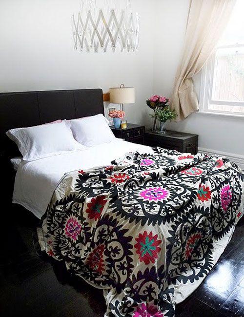 Queen Size Mexican Suzani Bedspread