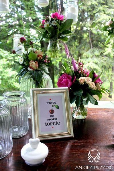 8. Cherry Wedding,Sweet table decoration,Field flowers  / Czereśniowe wesele,Dekoracja słodkiego stołu,Polne kwiaty,Anioły Przyjęć
