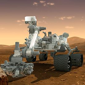 The Curiosity Rover (which is landing on Mars) Official coverage of the landing will begin on NASA TV at 8:30 p.m. Pacific and 11:30 p.m. Eastern on TONIGHT (8/5/12).