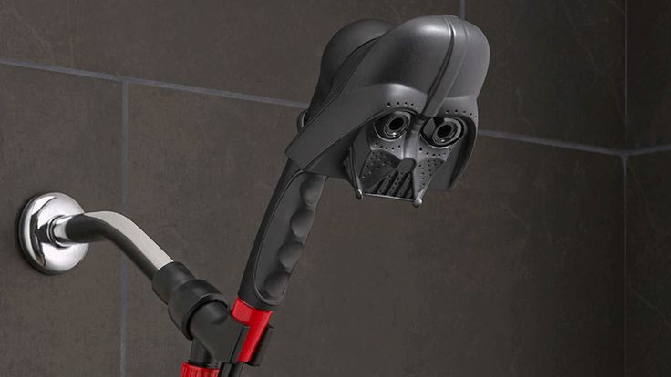 """Star Wars Showerheads Let You Bathe In Vader's Tears"" via Gizmodo - there is also an R2D2 version #StarWars"