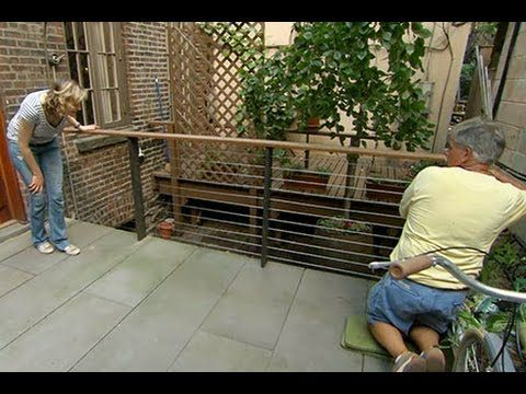 Get The Modern Look With A Cable Deck Railing - http://www.gottagodoityourself.com/get-the-modern-look-with-a-cable-deck-railing/