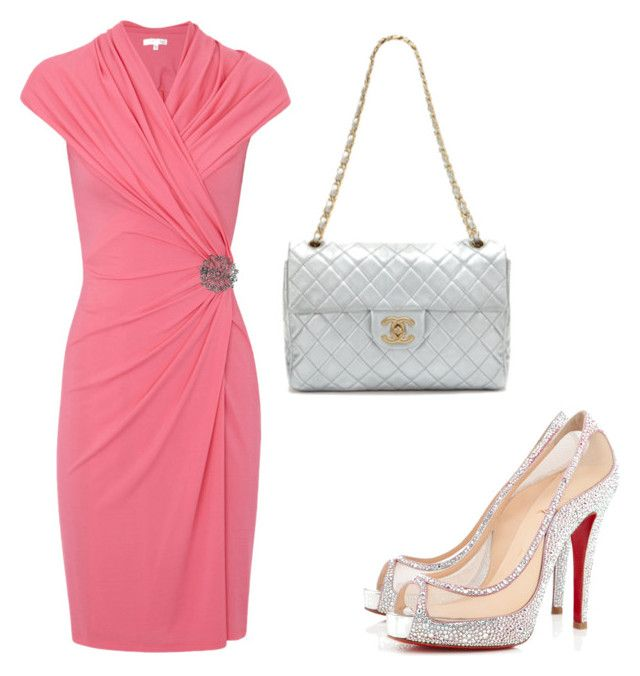 ?! uh, by azozoey on Polyvore featuring polyvore fashion style Paule Ka Christian Louboutin Chanel Accessorize clothing